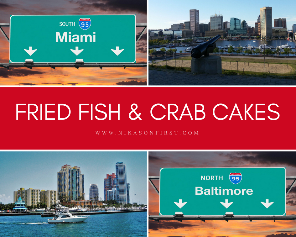 Fried Fish and Crab Cakes