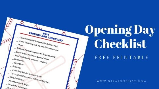 2019 Opening Day Checklist (FREE Printable)